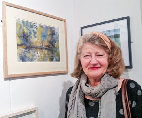 heather at the rws private view